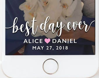Wedding Snapchat Geofilter, Wedding Snapchat Filter, Wedding Snapchat, Wedding Geofilter, Wedding Filter, Wedding Snap Chat, BEST DAY EVER