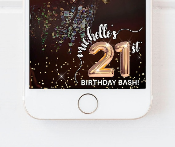 any age snapchat filter birthday snapchat geofilter | etsy