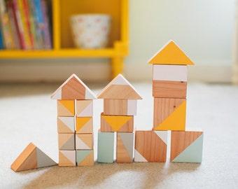 Kids Wooden Blocks-Eco Friendly Wooden Blocks-Handmade Kids Blocks-Wooden Toys-Minimalist Toy-Waldorf Toys- Heirloom Kids Toys-Waldorf Block
