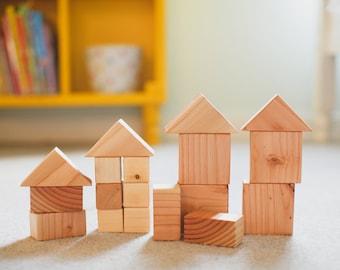 Kids Wooden Blocks-Eco Friendly Wooden Blocks-Handmade Kids Blocks-Wooden Toys-Minimalist Toy-Waldorf Toys-Heirloom Kids Toys-Waldorf Blocks