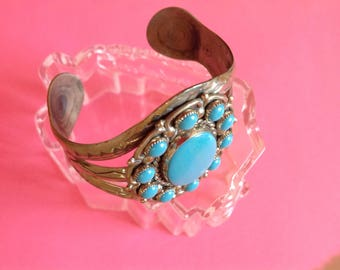 Vintage Bell Trading Company Turquoise Cluster Bracelet