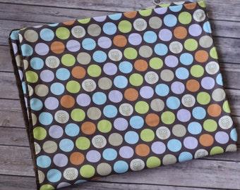 Gender Neutral Owl Baby Blanket, Minky Baby Blanket, Brown, Orange and Blue, Baby Shower Gift, Gender Neutral Baby Gift, Stroller Blanket