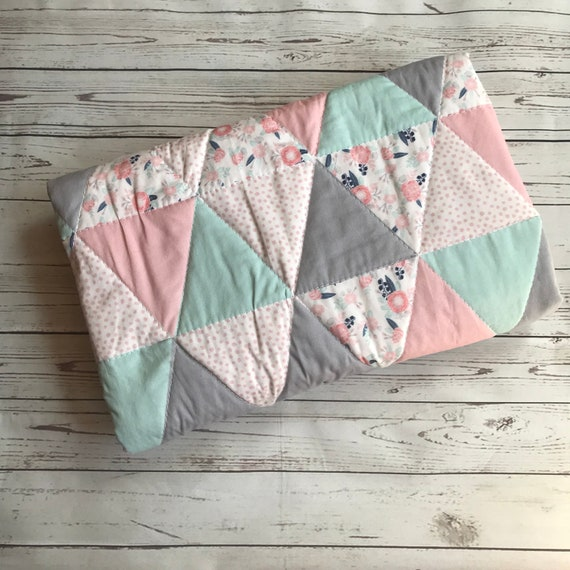 Pink Wheels Quilt for Baby and Child