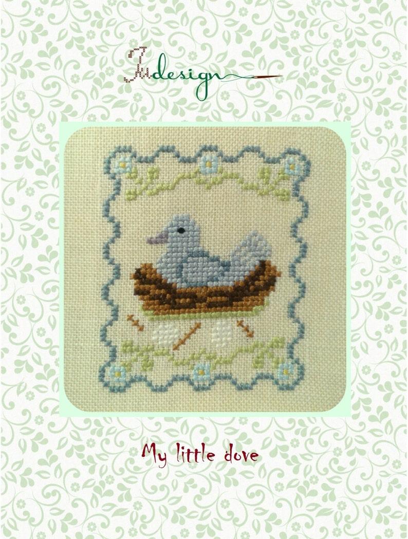 My little dove cross stitch pattern