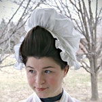 1770s Round-Ear French Style BIG HAIR Cap- Single Layer - UNTRIMMED - Milllinery- Cotton- 18th Century Reproduction