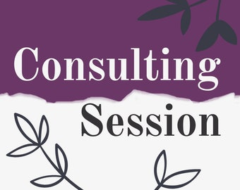 Consulting Session - Etsy Coaching, Sell On Etsy, Shop Critique, Product Descriptions, Marketing Help, Business Coaching, Shop Analysis