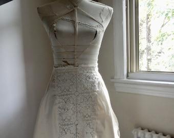 Handmade Apron with vintage fabrics