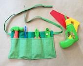 Toddler Tool Belt - Custom Tool Belt - Fabric Tool Belt - Pretend Play Tool Belt - Cuddles and Keepsakes
