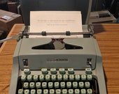 1967 Hermes 3000 vintage portable typewriter with Techno font and case