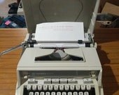 1970 39 s Hermes 3000 portable typewriter with case lid