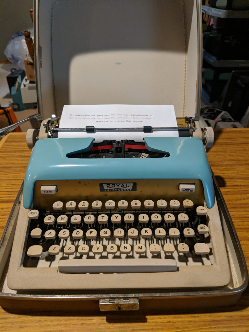 royal aristocrat manual typewriter