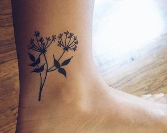 Wild Flower Temporary Tattoo (Set of 2)