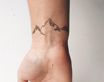 Small Mountain Temporary Tattoo (Set of 2)