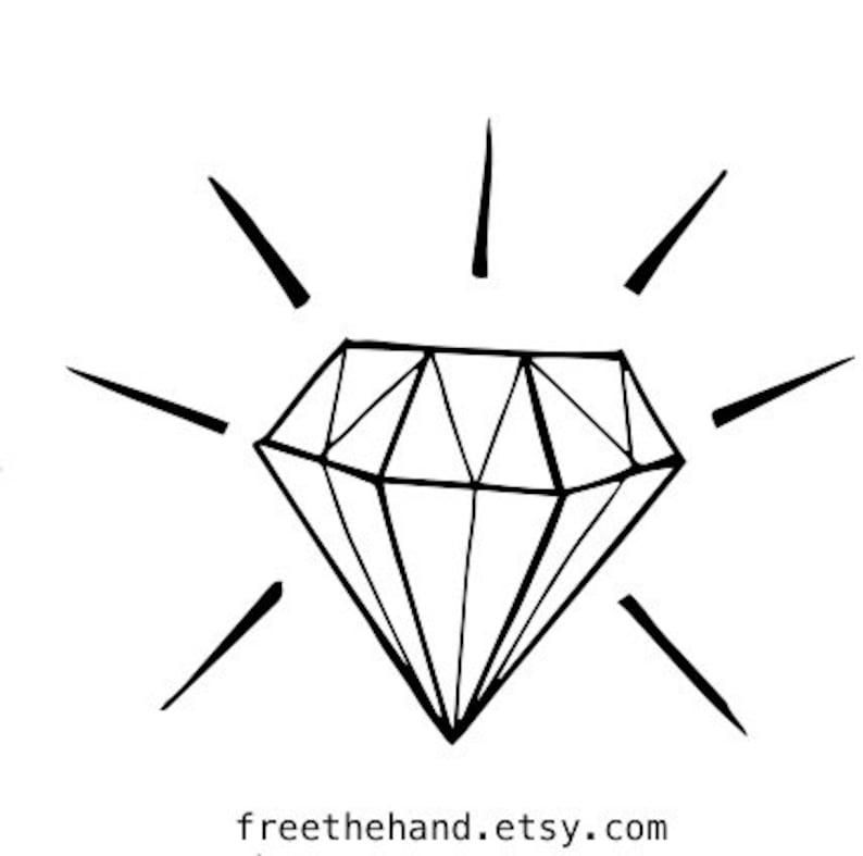 Small Diamond Temporary Tattoo Set Of 2