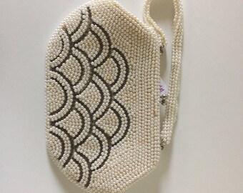 Unique Vintage White Pearl Cute Handbag