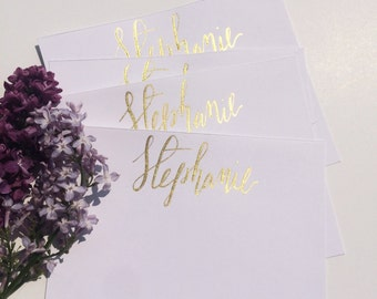 Personalized Stationery, Custom Calligraphy
