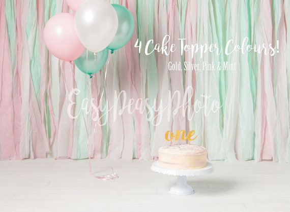 1st Birthday One Cake Smash Digital Backdrop Background Prop
