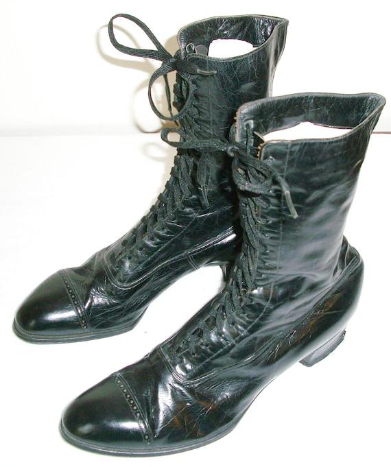 Antique Black Victorian Boots