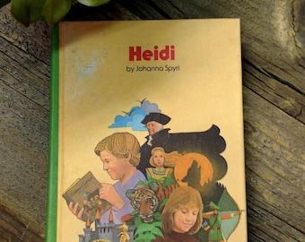 Heidi Hardbound Children's Classic Book 1979   Vintage Heidi Children's Book   Heidi Hardbound 1979