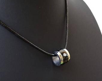 mens fashion necklace, drum barrel shape necklace pendant, Husband Gift, Boyfriend Gift, Jewelry for men, Gift For Men, Men Accessories,