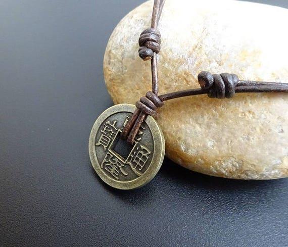 Chinesische Münzenhalskette Glücksbringer Amulett Etsy