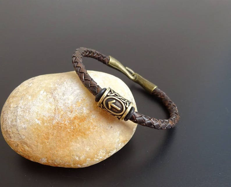 Viking Rune Leather bracelet Viking Jewelry, Thor/'s Hammer Bracelet Bracelet with viking rune viking rune Wristband Viking Bracelet