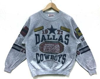 Rare!!! Vintage Dallas Cowboys 1992 Sweatshirt Big Print Overprint Baseball NFL Football By Chicago
