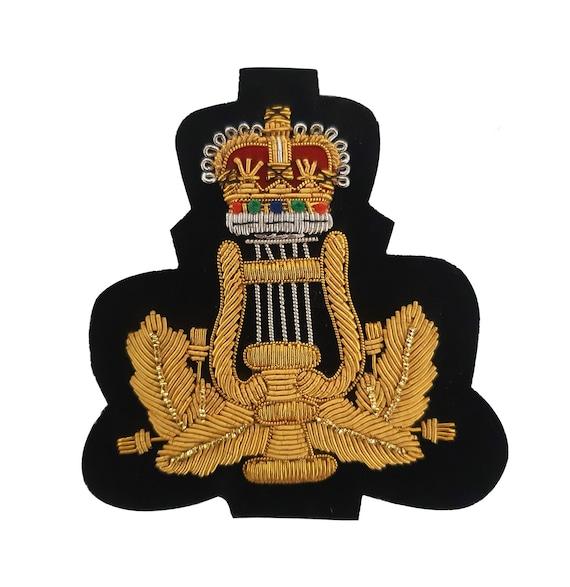 Custom made hand embroidery gold bullion wire epaulette badges