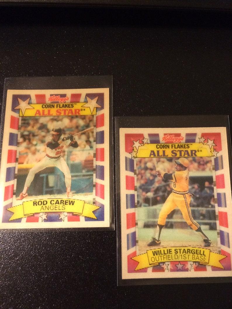 1992 2 Kelloggs Corn Flakes All Star 3 D Cards Willie Stargell Rod Carew