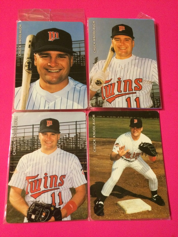 1992 Mothers Cookies Chuck Knoblauch 1991 American League Rookie Of The Year Set Of 4 Cards