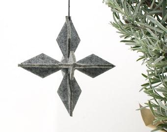 Sale Discount, 35 Felt Geometric Christmas Decoration Bundle, Snowflake Tree Ornament, Handmade Christmas Star, Modern Xmas Holiday Decor