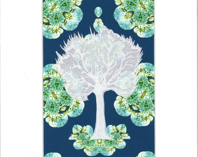 Alabaster tree collage on designer paper
