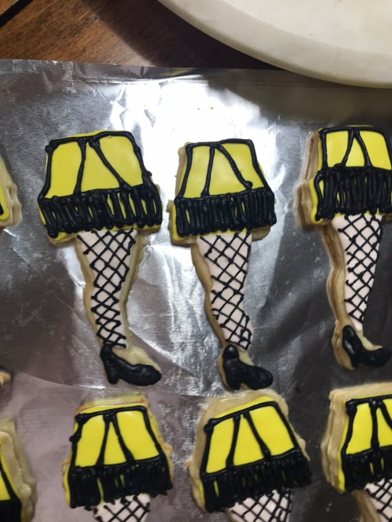 A Christmas Story Leg Lamp Cookies