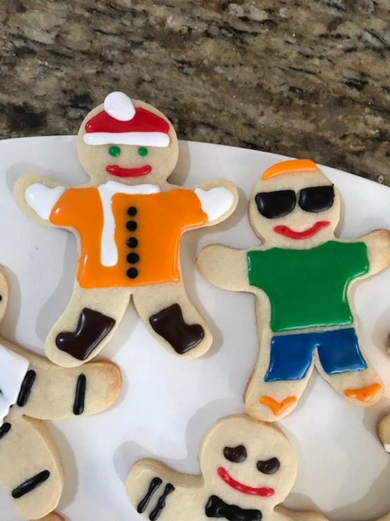 Christmas Silly Gingerbread Men Sugar Cookie