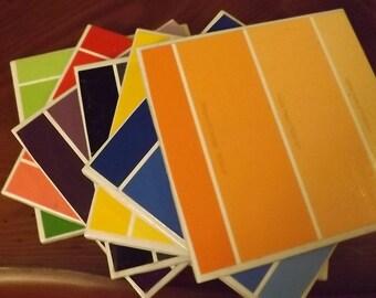 Paint Chip Coasters