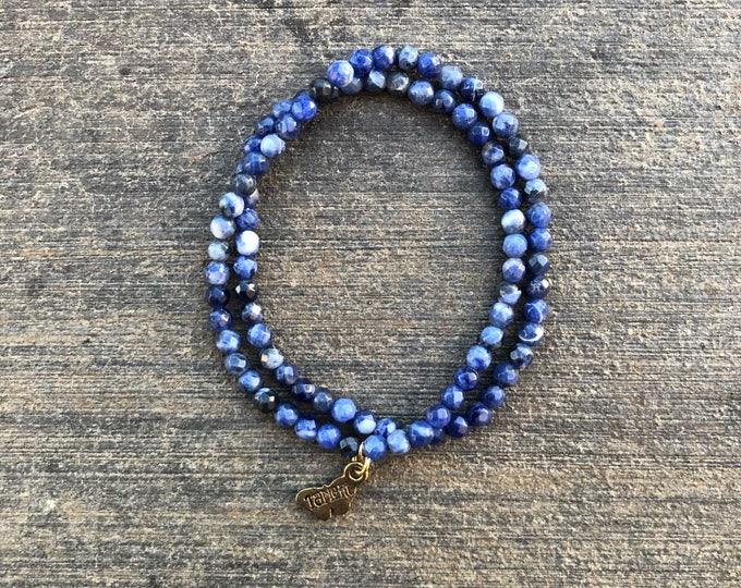 Infinity Wrap Sodalite Bracelet