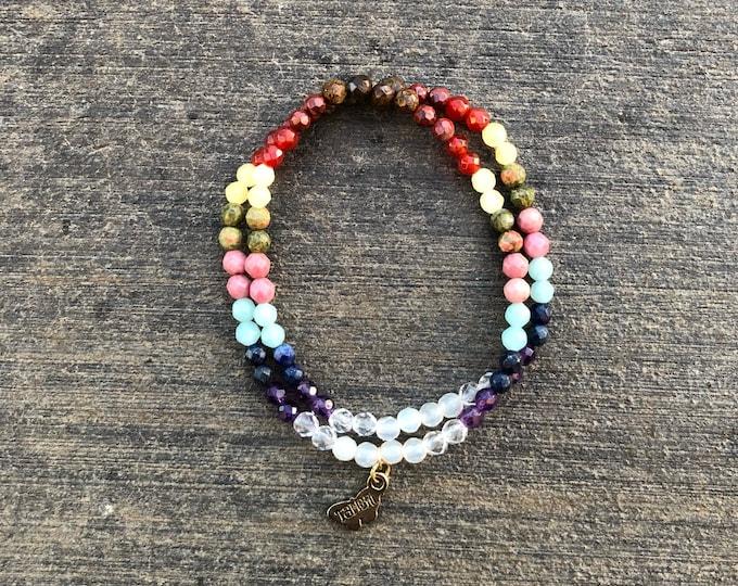 Infinity Wrap Chakra Bracelet