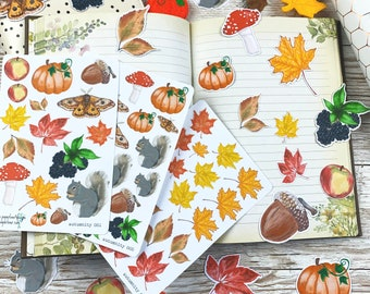 Autumn Sticker and Die Cut Collection 'Autumnity': Handrawn Designs for Planners, Journals, Scrapbooking, Art Journaling, Papercrafts