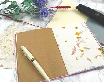 Creative Journal Slim with Speciality Papers Travelers Notebook with Kraft, Vellum, Mulberry, Handmade Papers Various Sizes Junk Journal