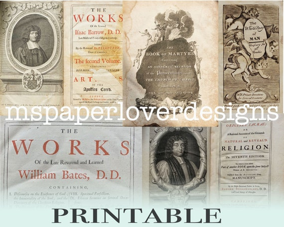 photograph regarding Vintage Book Pages Printable known as Junk Magazine Printable Ebook Web pages - Antique Ebook Addresses against Non secular Texts 18th and 18th Century