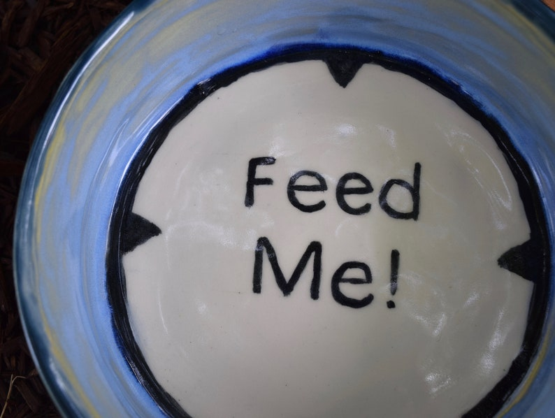 Ceramic handmade dog bowl