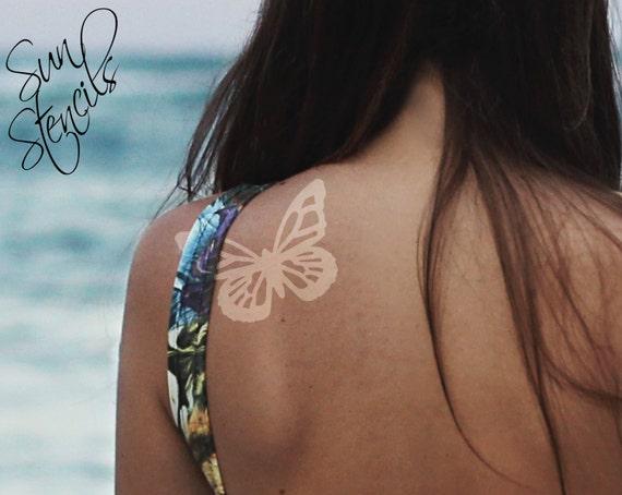 Sun Tan Tattoo Schmetterling Design Gerbung Aufkleber | Etsy