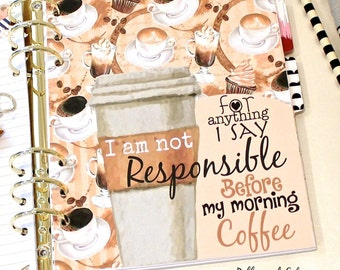 COFFEE Planner Dashboard, COFFEE CUP Dashboard, A5 Dashboard, Personal Planner Dashboard, Planner Inserts,  Divider Inserts, Cute Dashboards