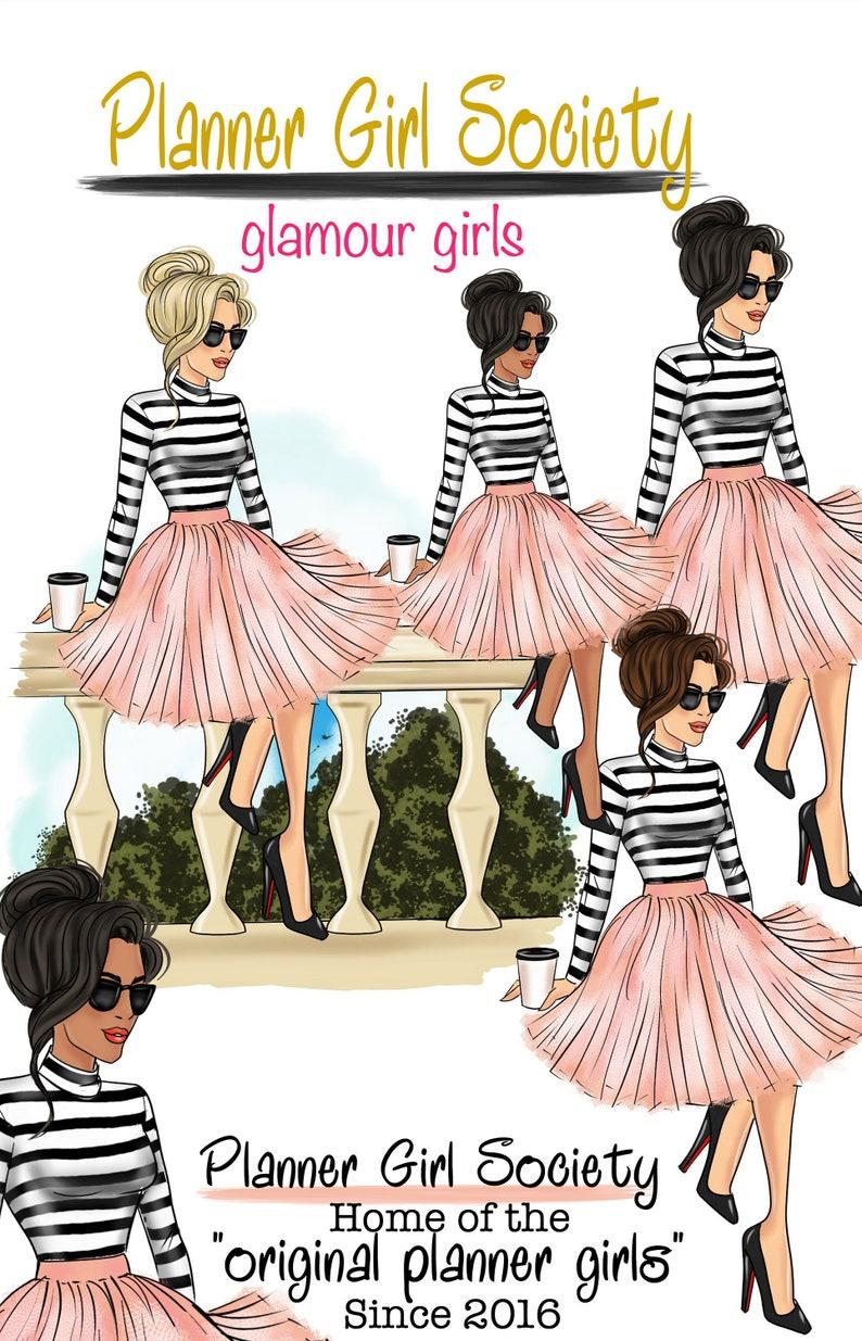 9aeaaa6b4e7 Planner Girl Clipart Glamour Girls Planner GoodNotes Digital