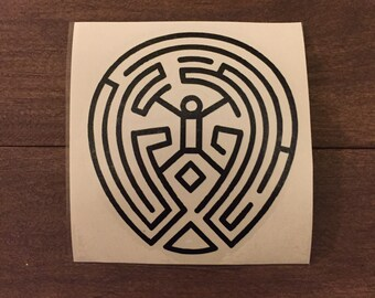 The Maze Westworld vinyl decal, car decal, laptop decal, yeti decal, MacBook decal