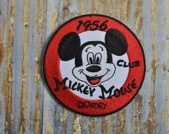 Vintage Mouse 1956 Embroidered Iron On Or Sew On Patch