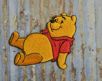 Winnie Childrens Honey Cartoon Kids Embroidered Iron On Or Sew On Patch