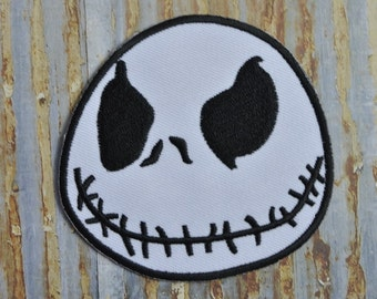 Mask Face Stitched Mouth Evil Mask  Skull  Movie Embroidered Iron On Or Sew On Patch