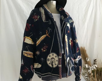 SOUTHWEST VINTAGE JACKET Painted Pony Nickel Buttons One Size 100/% Cotton