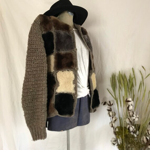 Vintage | Hand Knit | One of a Kind | Shearling |